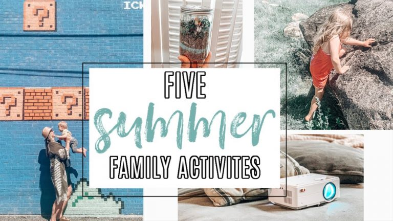5 Fun Summer Activities for Kids {Video Included!}