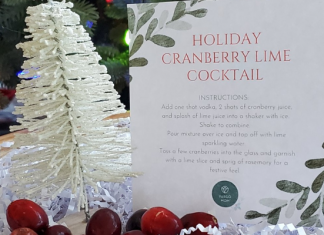 cranberry lime holiday drink